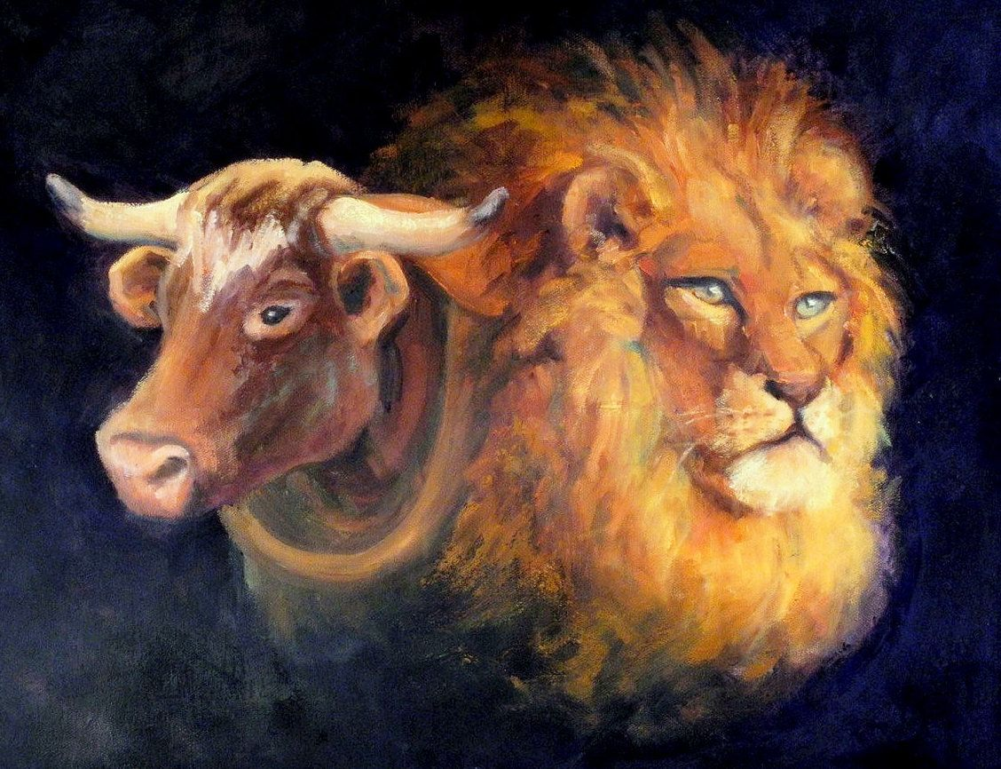 Rediscovery of the Heart Lion-Ox image